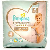 Трусики PAMPERS Premium Care Pants 4 9-15кг 22шт