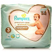 Трусики PAMPERS Premium Care Pants 3 6-11кг 28шт