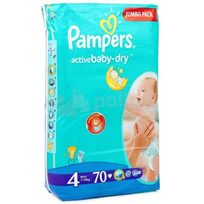 Подгузники PAMPERS Active Baby-Dry 4 Maxi 8-14кг 70шт