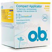 Тампоны O.B Compact Applicator Normal 16шт
