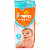 Подгузники PAMPERS Sleep and Play 4 Maxi 9-14 кг 50шт.