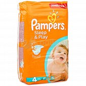 Подгузники PAMPERS Sleep and Play 4 Maxi 8-14 кг 68шт.
