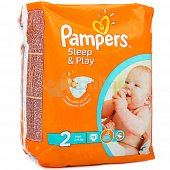 Подгузники PAMPERS Sleep and Play 2 Mini 3-6кг 18шт.
