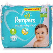 Подгузники PAMPERS Active Baby-Dry 5 Junior 11-16кг 64шт